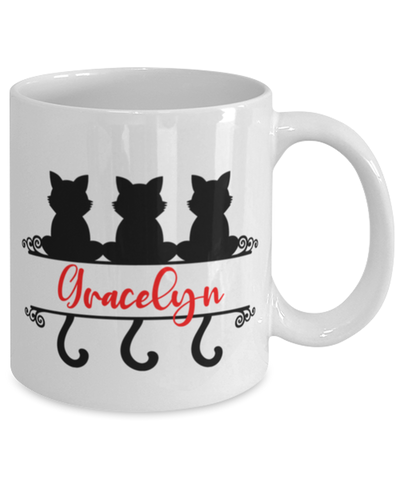 Image of Gracelyn Cat Lady Mug Personalized Funny Feline Mom Coffee Cup