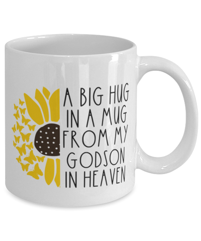 Image of Godson Memorial Sunflower Cup Big Hug in a Mug From Heaven Memory Keepsake