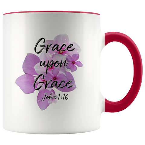 Grace Upon Grace John 1:16 Mug Faith Gift Scripture Bible Verse Accent Coffee Mug Gifts