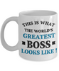 World's Greatest Boss Mug Gift Employer's Day Appreciation Coffee Cup
