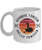 Enjoy Fishing Retirement Mug Gift Goodbye Tension Hello Pension Retire Happy Good Luck Novelty Cup