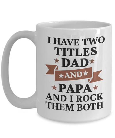 Dad Papa Mug Gift Rocking Father Grandfather Life Coffee Cup