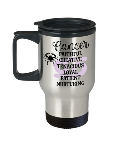 Image of Cancer Zodiac Travel Mug Gift Fun Novelty Birthday Coffee Cup