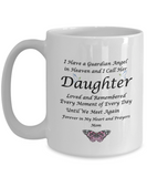 Gift for Bereaved Mom  Guardian Angel in Heaven.. Daughter Remembrance Gift
