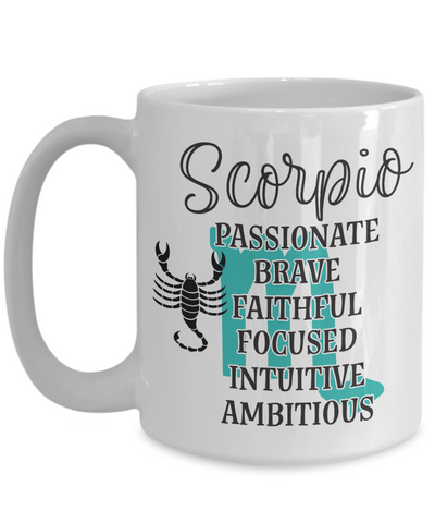 Scorpio Zodiac Mug Gift Fun Novelty Birthday Coffee Cup