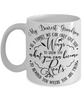 Grandson Family Gives You  Wings and Roots Mug a Beautiful Gift Novelty Birthday Graduation Coffee Cup