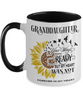 Granddaughter Your Wings Were Ready Sunflower Mug In Loving Memory Two-Tone Coffee Cup