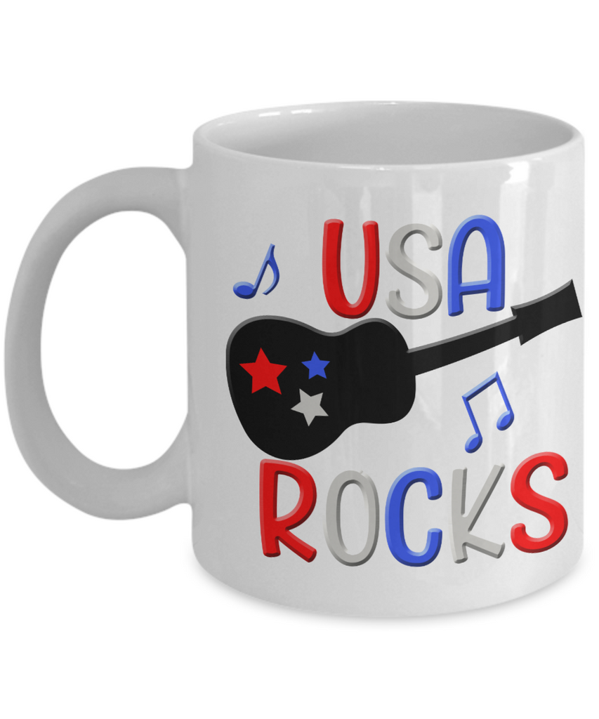 Patriotic Coffee Mug USA Rocks Fun Patriotic Tea Cups U2013 Countrywide Gifts