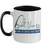 Fishing Good Things Come to Those That Bait Coffee Mug Fisherman Two Tone Ceramic Cup