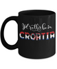 I'd Rather be in Croatia Black Mug Expat Croatian Gift Novelty Birthday Ceramic Coffee Cup