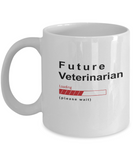Future Veterinarian Loading Please Wait Coffee Mug Gifts for Women and Men, Vets in Training Cups