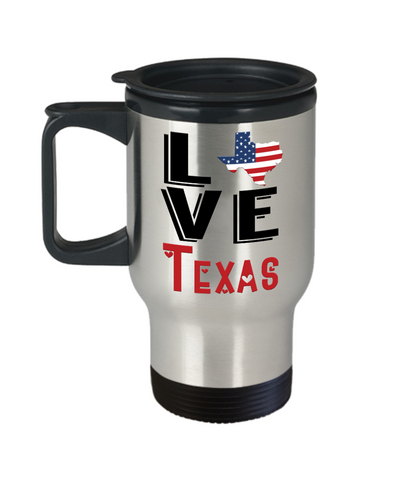 Love Texas State Travel Mug Gift Novelty American Keepsake Coffee Cup