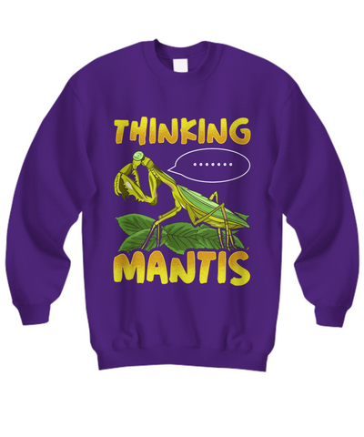 Thinking Praying Mantis Sweatshirt Gift Novelty Birthday Christmas  Clothing