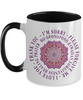 Hoʻoponopono Pink Mandala Travel Mug Hawaiian Prayer for Healing Coffee Cup