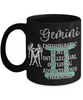 Gemini Zodiac Black Mug Gift Fun Novelty Birthday Coffee Cup