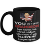Funny Grandson Trump Black Mug Gift Heart of Gold Novelty Coffee Cup