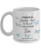Memorial Gift, I Have a Guardian Angel in Heaven Son  Remembrance Gifts
