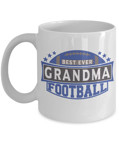Best Ever Football Grandma Mug Gift Fun Novelty Birthday Sport Lover Teacher Supporter Ceramic Coffee Cup