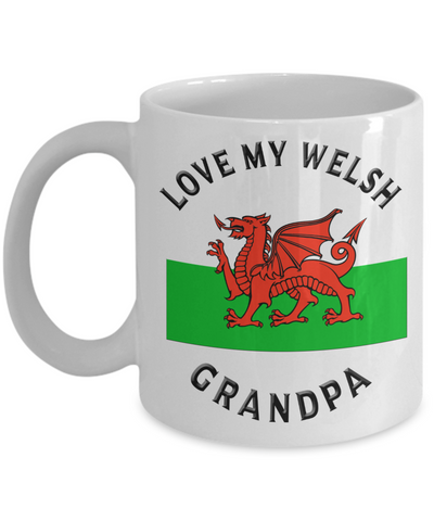 Love My Welsh Grandpa Mug Novelty Birthday Gift Ceramic Coffee Cup