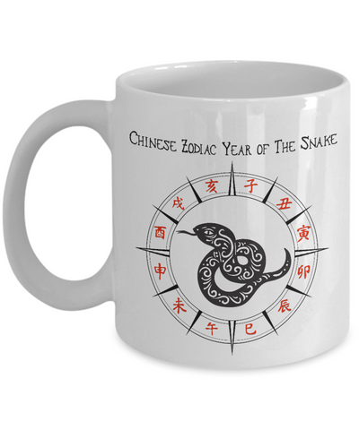 Image of Chinese Zodiac Gift, Year of the Snake, Chinese Zodiac Snake Gift Mug