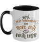 Soft Fur Therapist Cat Mug Two-Toned Ceramic Coffee Cup