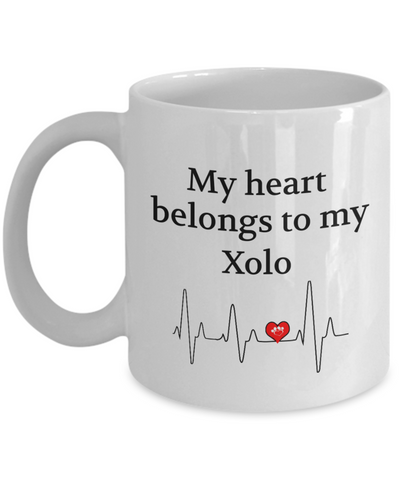 My Heart Belongs to My Xolo Mug Dog Lover Novelty Birthday Gifts Unique Work Ceramic Coffee Gifts for Men Women