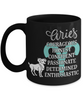 Aries Zodiac Black Mug Gift Fun Novelty Birthday Coffee Cup