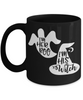 Halloween I'm Her Boo His Witch Black Mug Funny Gift Spooky Haunted Novelty Coffee Cup