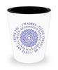 Hoʻoponopono Mandala Shot Glass  Hawaiian Prayer for Healing Gift