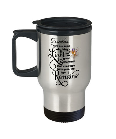 Grandson Memorial Some Bring a Light So Great It Remains Travel Mug Gift In Loving Memory Cup