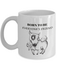 Funny Bull Terrier Gift Coffee Mug  Born To Be Everyone's Friend Fun Bull Terrier Dog Cup