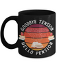 Teacher Retirement Black Mug Gift Goodbye Tension Hello Pension Retire Happy Good Luck Novelty Cup