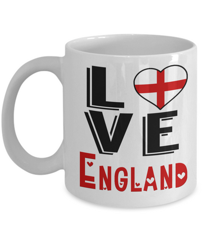 Image of Love England Mug Gift Novelty English Keepsake Coffee Cup