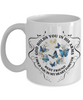 Best Friend Memorial Gift Mug God Holds You In His Arms Remembrance Sympathy Mourning Cup