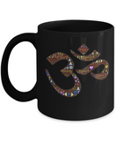 "Gift for Meditation Lover, "" Ohm"" Sound Symbol Inspirational Gift Coffee Mug"
