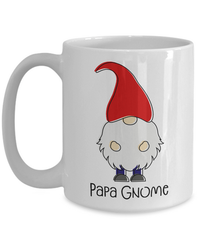 Papa Gnome Mug Gift For Dad Father's Day Birthday Coffee Cup