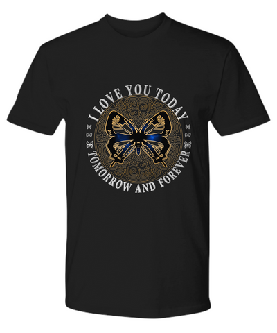I Love You Butterfly Men's Premium Shirt Gift Novelty Birthday Christmas Valentine's Day Tee