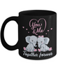 You & Me Together Forever Elephant Black Mug Gift Love You Surprise Her on Valentine's Day Birthday Novelty Cup