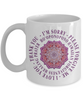 Ho'oponopono Pink Mandala Mug Hawaiian Prayer for Healing Two-Toned Cup