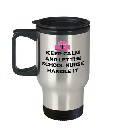 Image of Keep Calm I'm a Nurse Practitioner Travel Mug Funny Nursing Gift Coffee Cup