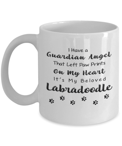 Image of Labradoodle Memorial Gift, Guardian Angel.. Labradoodle, Pet Remembrance Gift