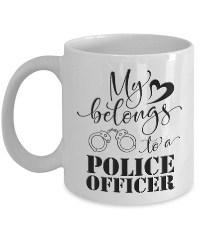 Image of Police Officer Gift, My Heart Belongs to a Police Officer, Police Officer Gift Men and Women