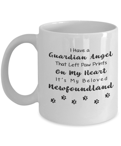 Image of Newfoundland Memorial Gift,  I Have a Guardian Angel ...Newfoundland Pet Remembrance Gift