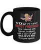 Funny Best Friend Trump Black Mug Gift Heart of Gold Novelty Coffee Cup