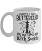 Halloween Buckle Up Buttercup Witch Switch Mug Funny Gift Spooky Haunted Novelty Coffee Cup
