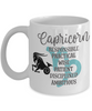 Capricorn Zodiac Mug Gift Fun Novelty Birthday Coffee Cup