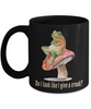 Do I Look Like I Give a Croak Frog Black Mug Gift Funny Work Office Novelty Birthday Coffee Cup