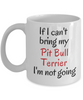 If I Cant Bring My Pit Bull Terrier Dog Mug Novelty Birthday Gifts Cup for Men Women Humor Quotes Unique Work Ceramic Coffee Gifts