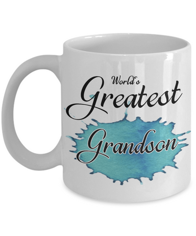 World's Greatest Grandson Mug Unique Novelty Birthday Christmas Gifts Ceramic Coffee Cup Gifts
