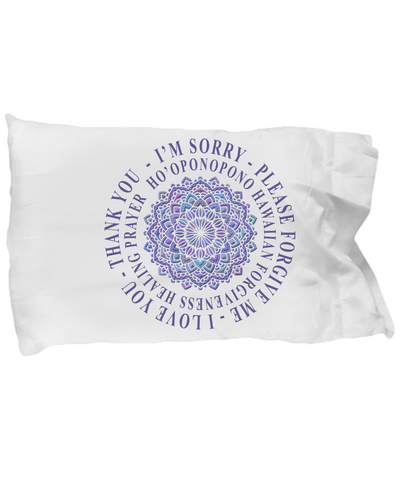 Hoʻoponopono Mandala Pillow Case Hawaiian Prayer for Healing Gift